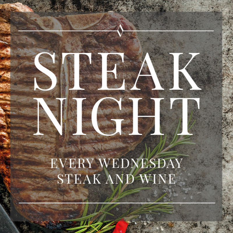 Steak Night every Wednesday. Steak & Wine at The Old Bell Inn, Restaurant & Brasserie, Delph, Saddleworth.